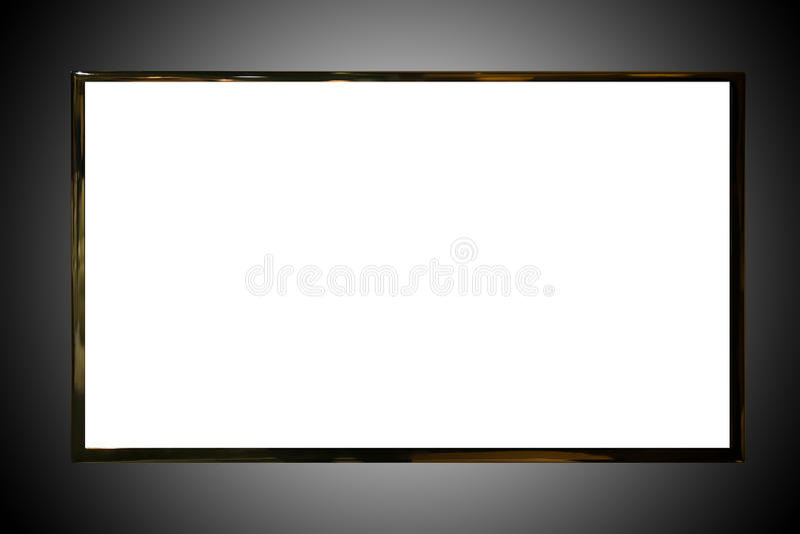 Isolerad TVskärm royaltyfri bild