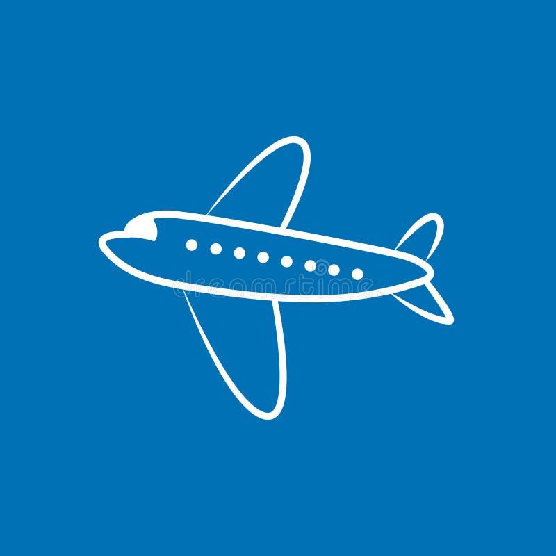 Isolerad typ av flygplanvektorn Illustration för flygplansidosikt Moderna typer av flygplanet royaltyfria foton