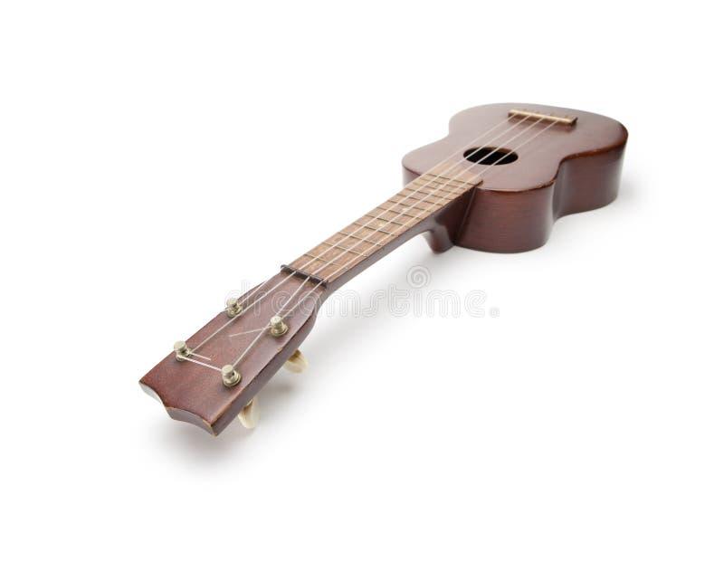 isolerad ukuleletappningwhite arkivbild
