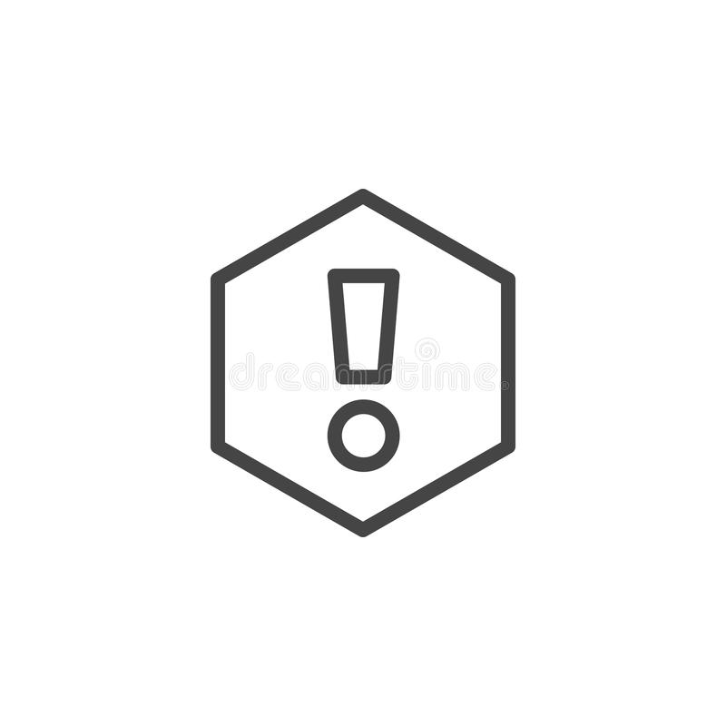 Isolerad utropsteckensymbol Uppmärksamhet uttryck, information, viktigt rengöringsduktecken Knapp- eller manöverenhetsbeståndsdel royaltyfri illustrationer