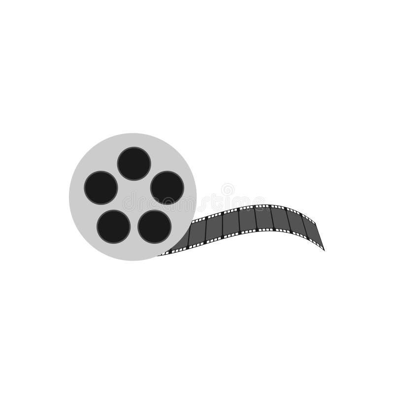Isolerad vektor för mall för design för symbol för logo för filmrulle stock illustrationer