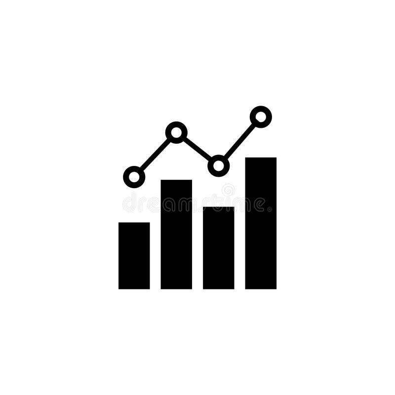 Isolerad vektorillustration för graf affär royaltyfri illustrationer