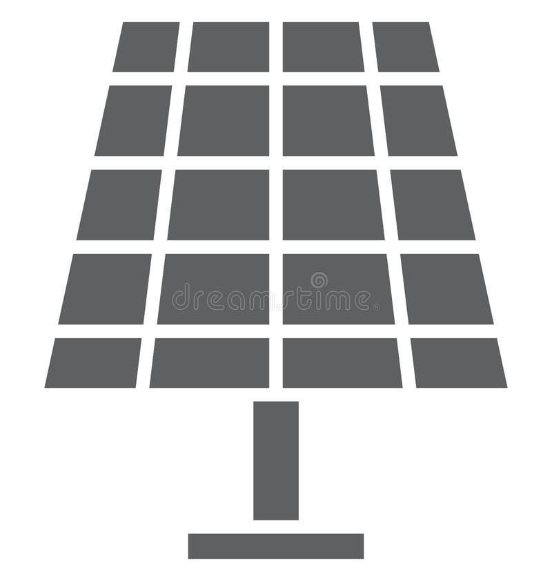 Isolerad vektorsymbol för sol- energi som kan lätt ändras eller redigera vektor illustrationer