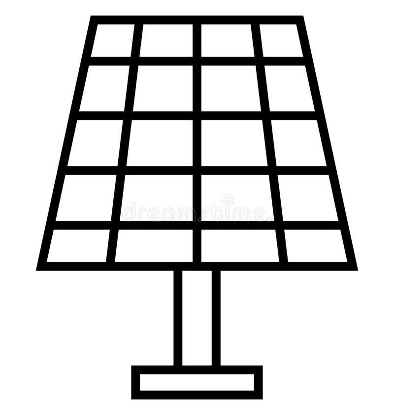 Isolerad vektorsymbol för sol- energi som kan lätt ändras eller redigera stock illustrationer