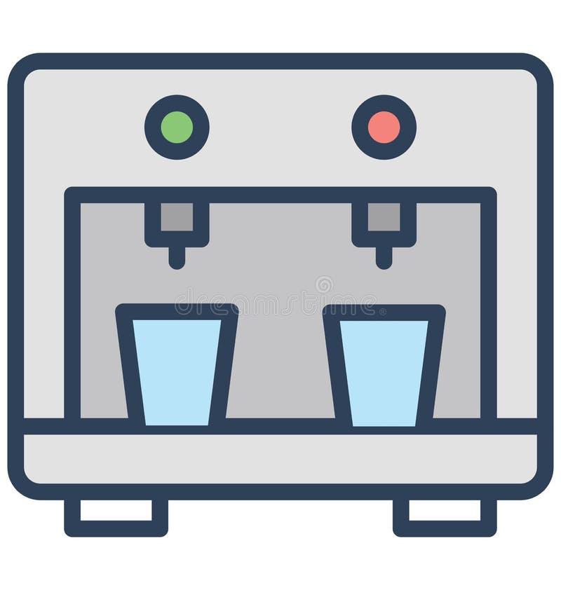 Isolerad vektorsymbol för vatten utmatare som kan lätt ändras eller redigera royaltyfri illustrationer