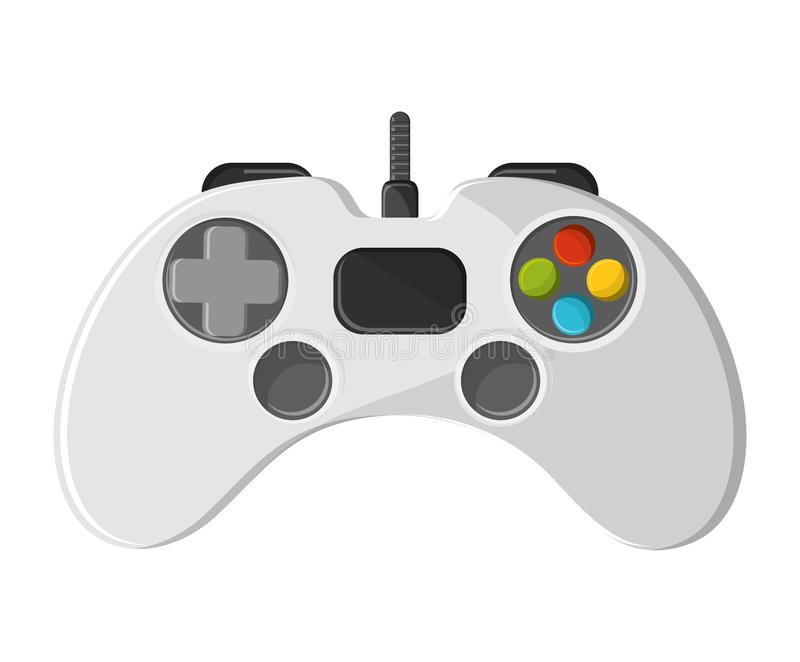 Isolerad videogamekontrolldesign stock illustrationer