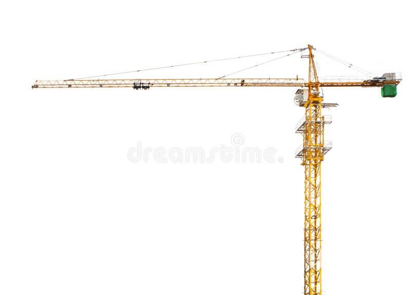 Isolerad vit bakgrund för konstruktionskran arkivfoto