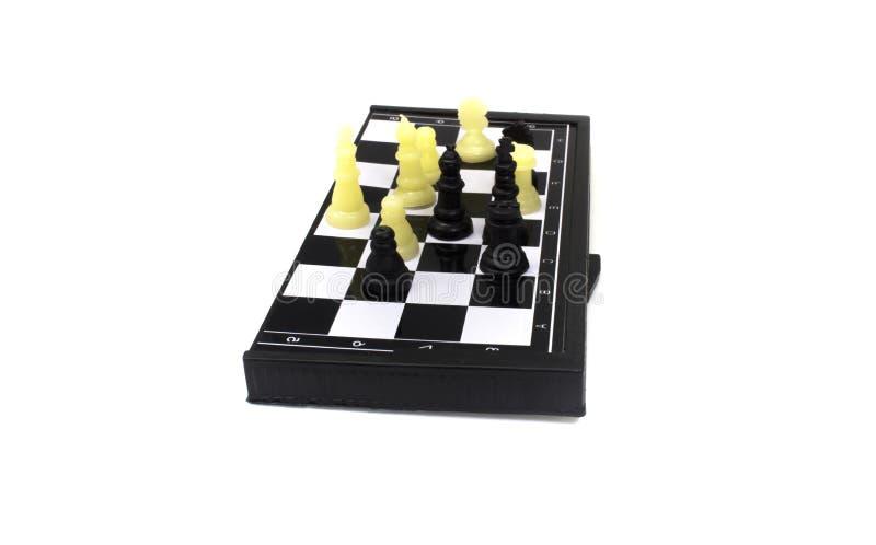 Isolerad vit för schackbrädelek royaltyfria foton