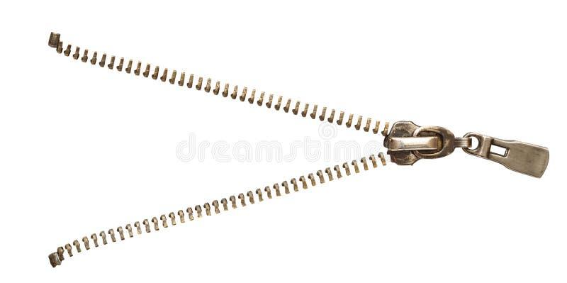 isolerad vit zipper royaltyfri foto