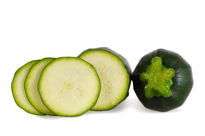 isolerad vit zucchini arkivbild