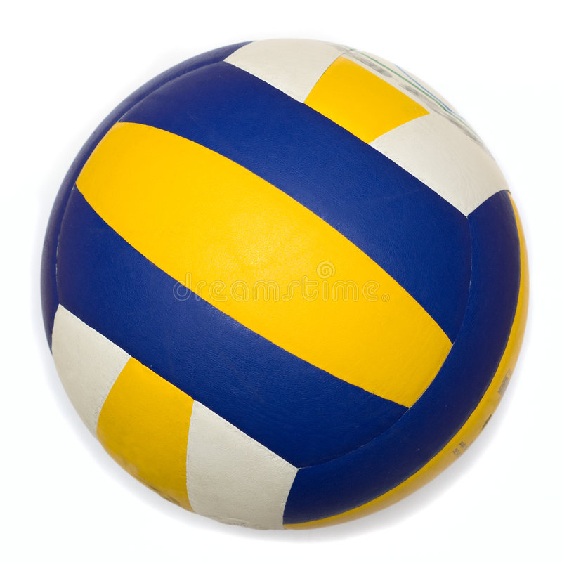 isolerad volleyboll