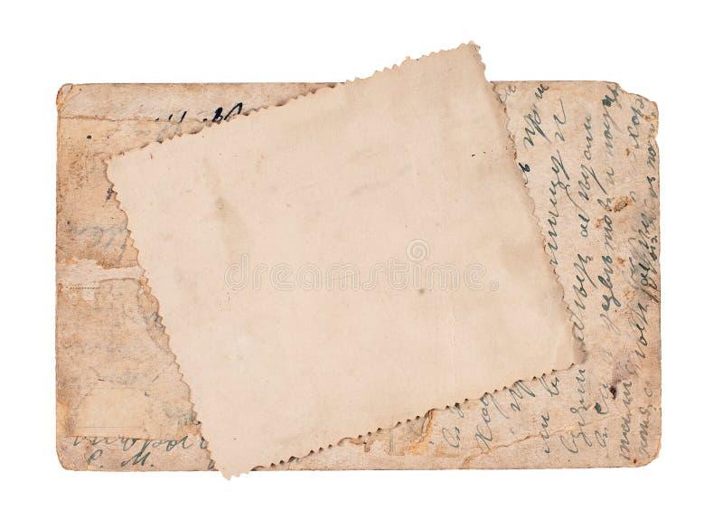 isolerad vykorttappningwhite arkivfoto