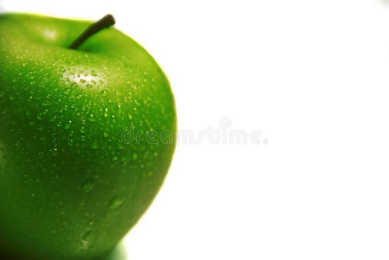 isolerad white för äpplebakgrund green fotografering för bildbyråer