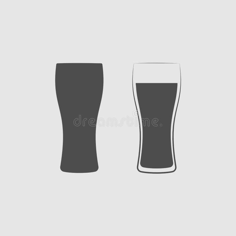 isolerad white för öl exponeringsglas vektor illustrationer