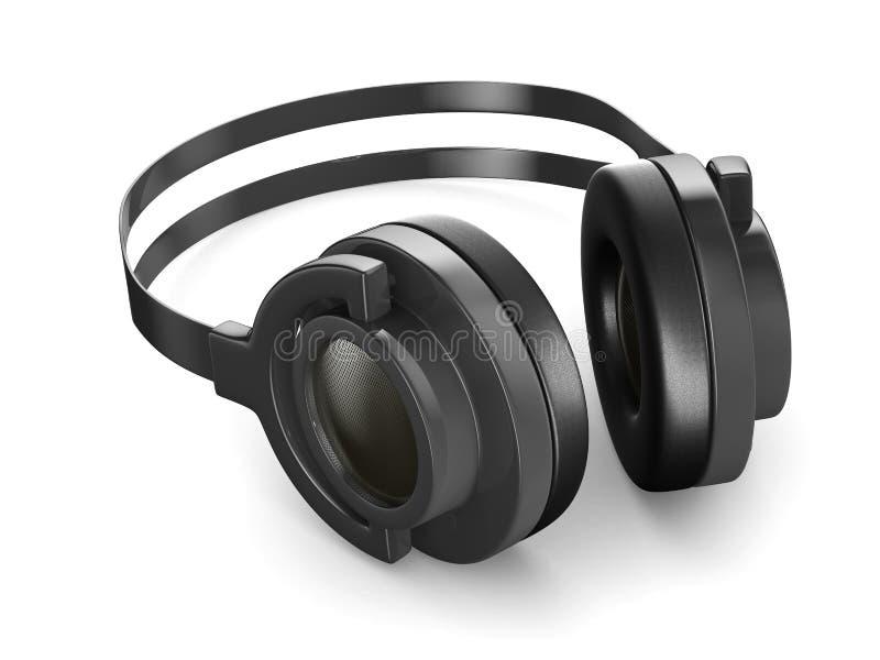 isolerad white för bakgrund 3d headphone royaltyfri illustrationer