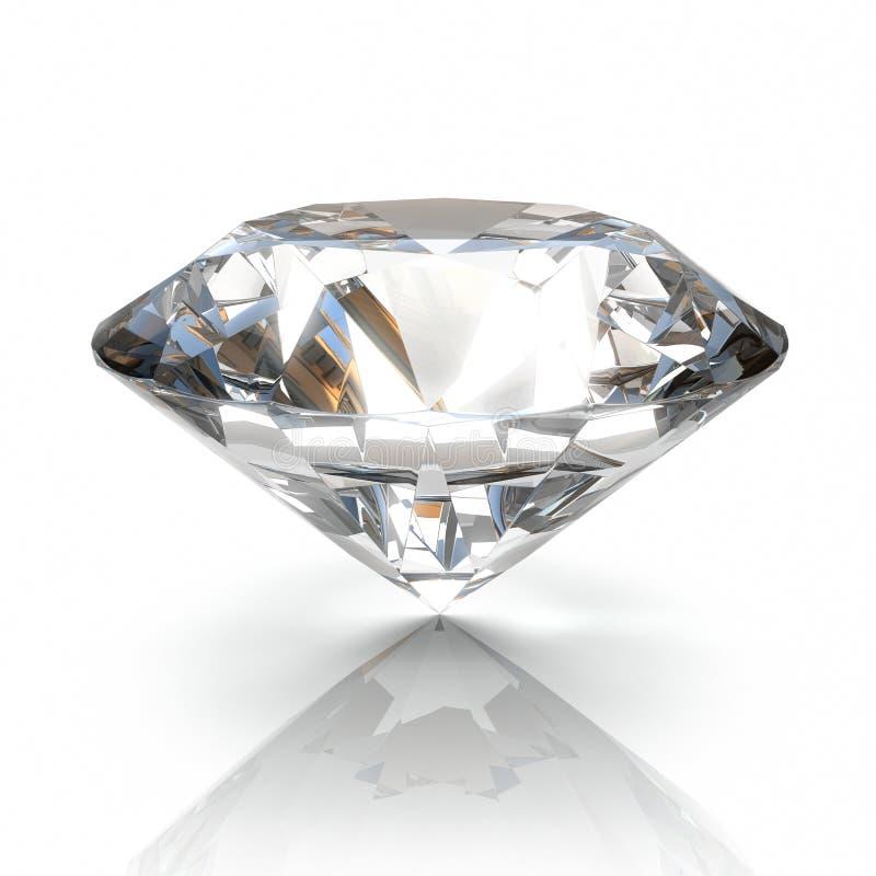 isolerad white för bakgrund diamant royaltyfri illustrationer