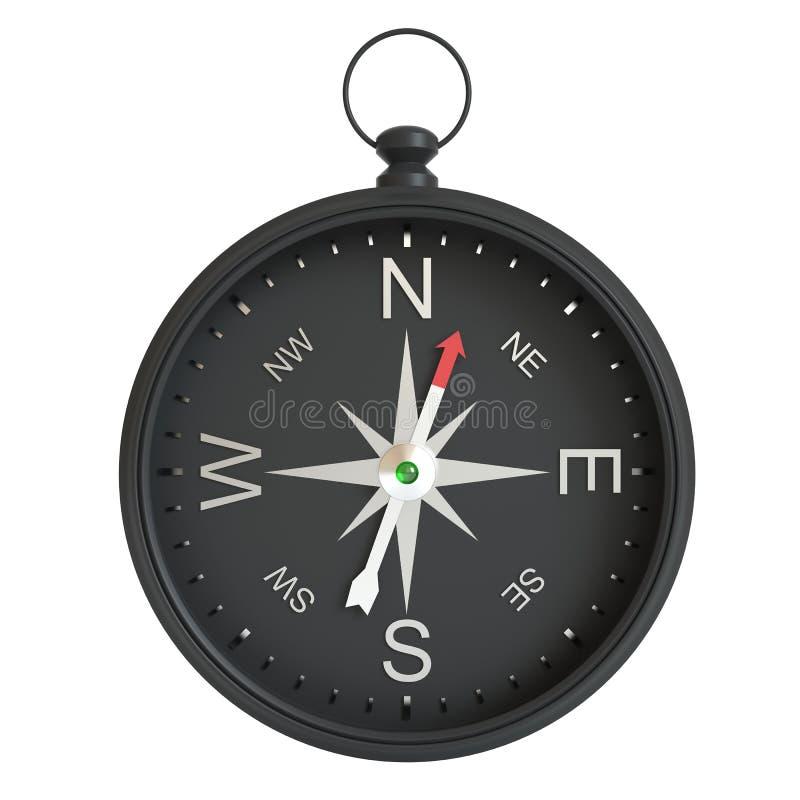 isolerad white för bakgrund kompass stock illustrationer