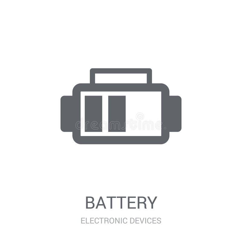 isolerad white för bakgrundsbatteri symbol  vektor illustrationer
