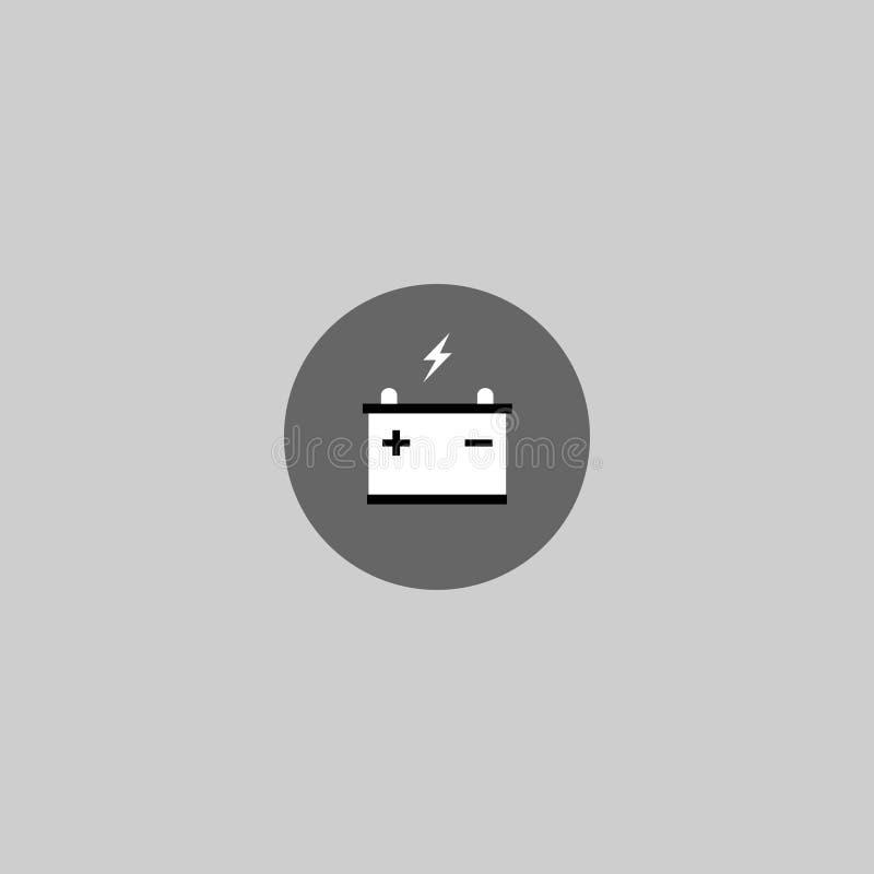 isolerad white för bakgrundsbatteri symbol Energi också vektor för coreldrawillustration 10 eps royaltyfri illustrationer
