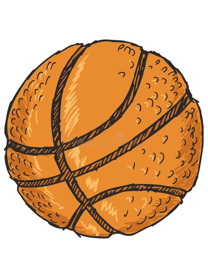 isolerad white för bakgrundsboll basket stock illustrationer