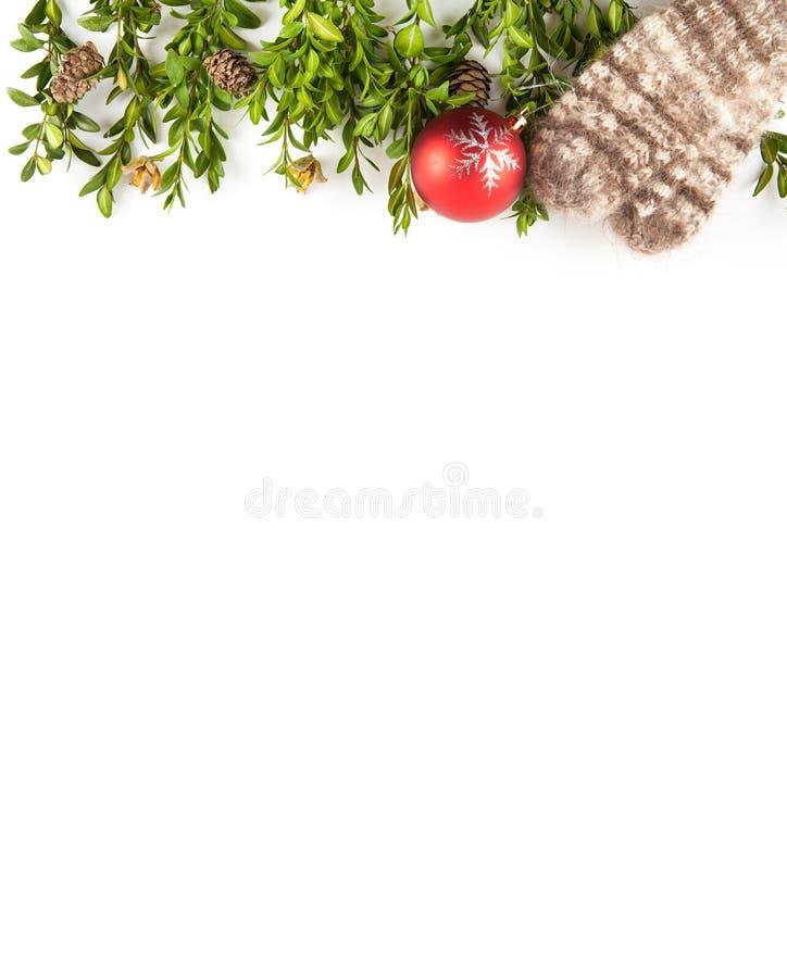 isolerad white för bakgrundsjul garnering arkivfoton