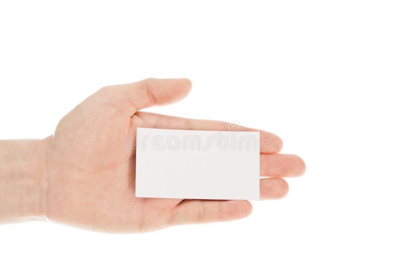 isolerad white för bakgrundskort hand arkivfoton