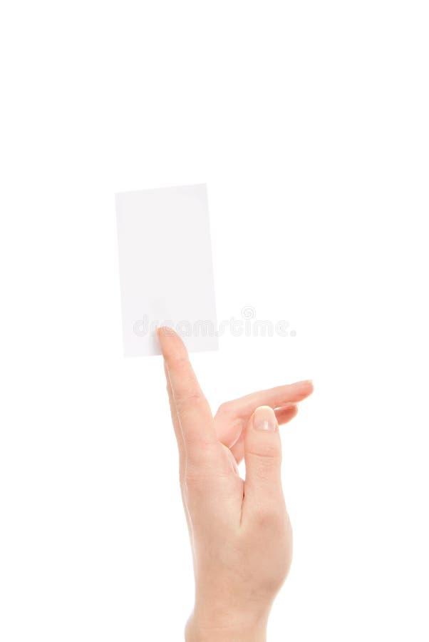 isolerad white för bakgrundskort hand royaltyfri bild