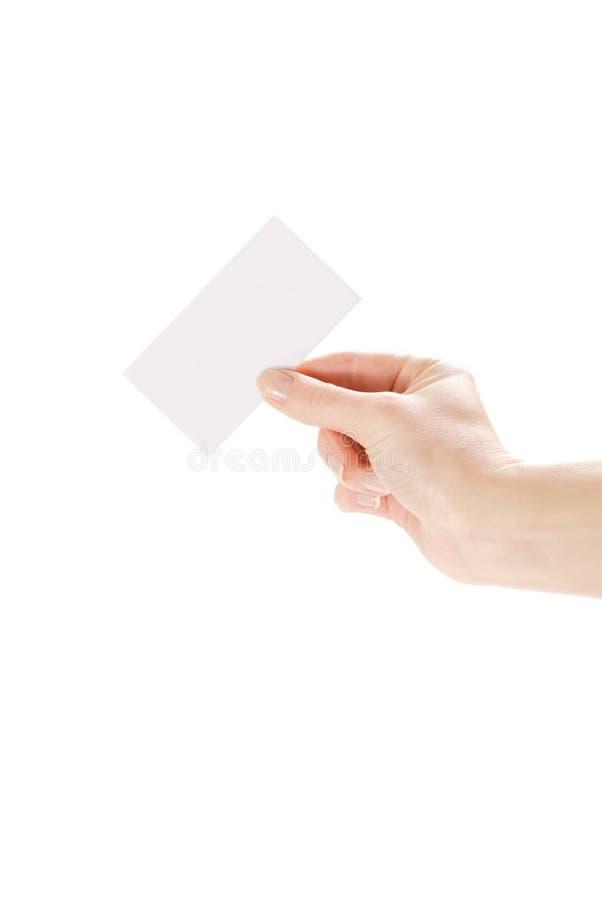 isolerad white för bakgrundskort hand royaltyfri fotografi