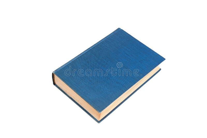 isolerad white för blå bok arkivfoton