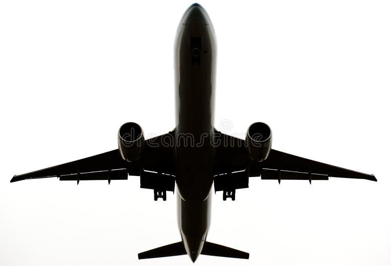 isolerad white för flygplan kommersiellt flyg royaltyfri foto