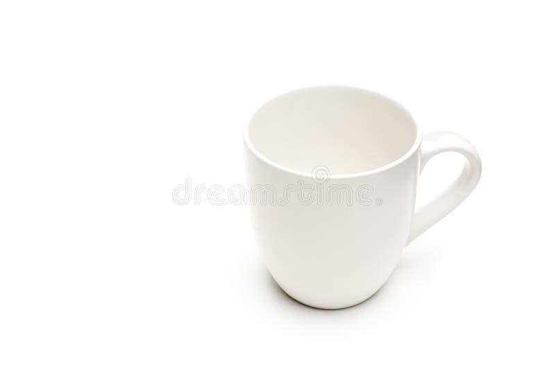 isolerad white för kaffekopp arkivbilder