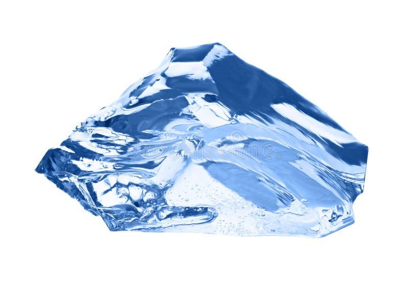 isolerad white för kub is arkivfoto