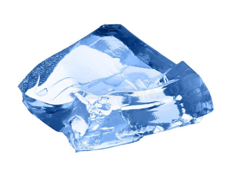 isolerad white för kub is fotografering för bildbyråer