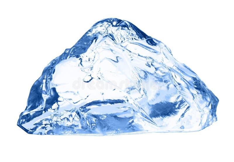 isolerad white för kub is royaltyfri fotografi