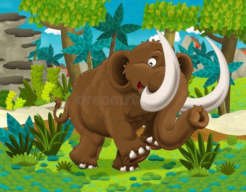 isolerad white för tecknad film dinosaur royaltyfri illustrationer