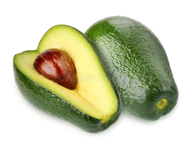 isolerad white f?r avokado bakgrund avocado arkivfoton