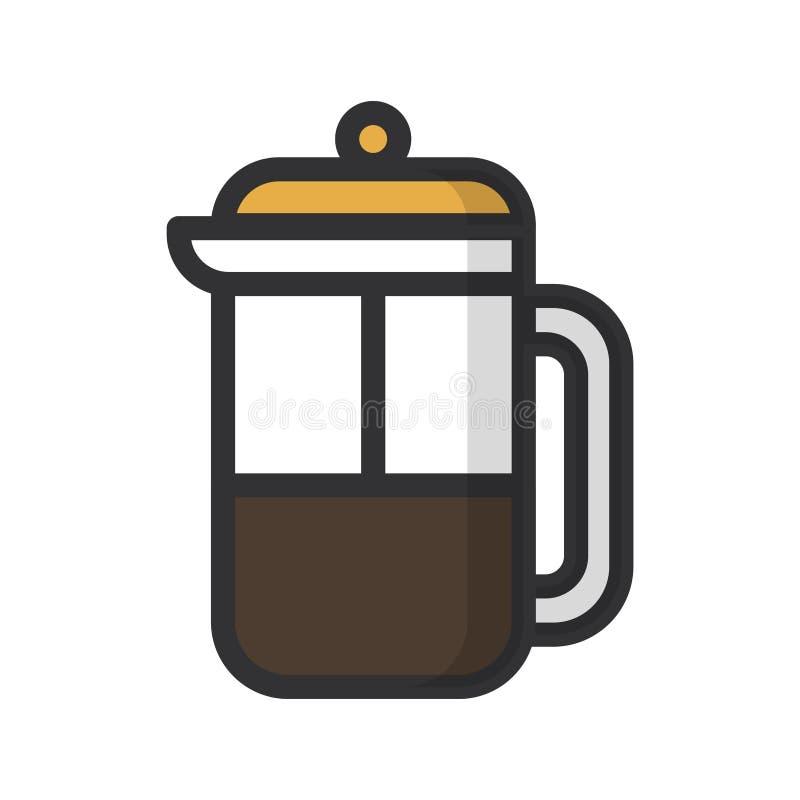 isolerad white f?r kaffe drink royaltyfri illustrationer
