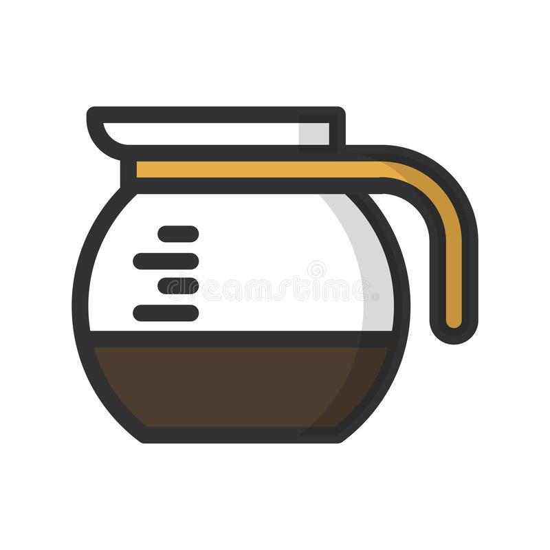 isolerad white f?r kaffe drink stock illustrationer