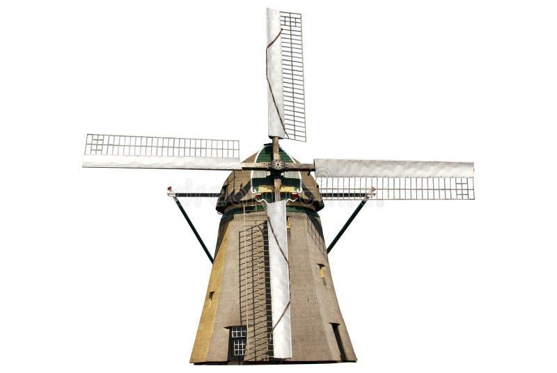 isolerad windmill royaltyfri bild