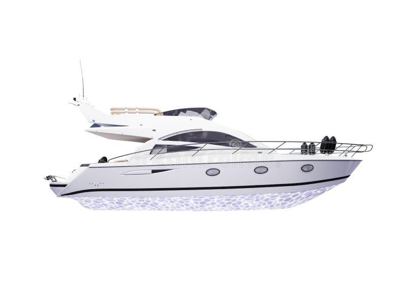 isolerad yacht för sidosikt stock illustrationer
