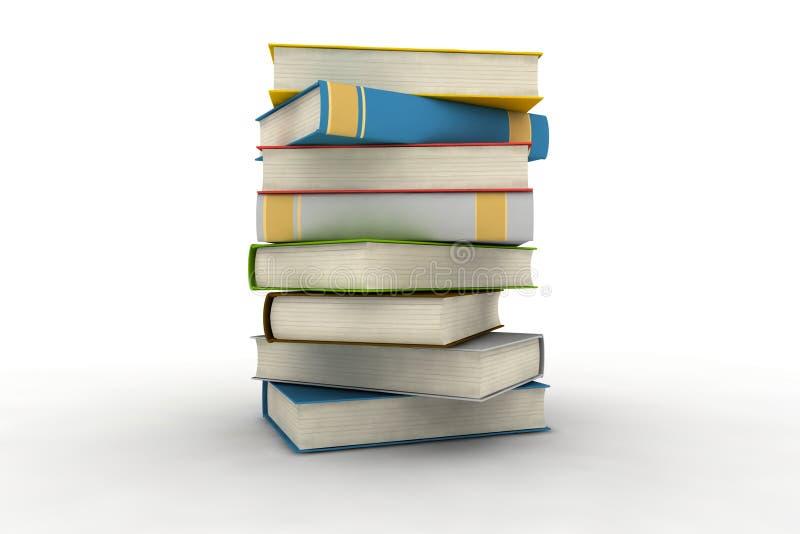 isolerade böcker stock illustrationer