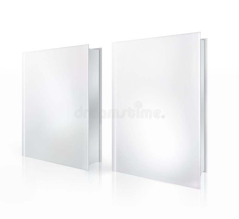 isolerade blanka böcker för bakgrund white royaltyfri illustrationer