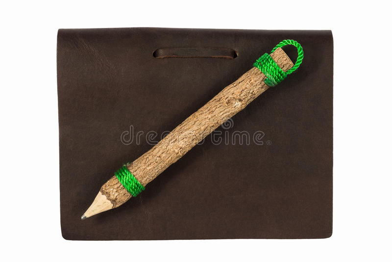 Isolerade bok och blyertspenna för bästa sikt gammal arkivbild