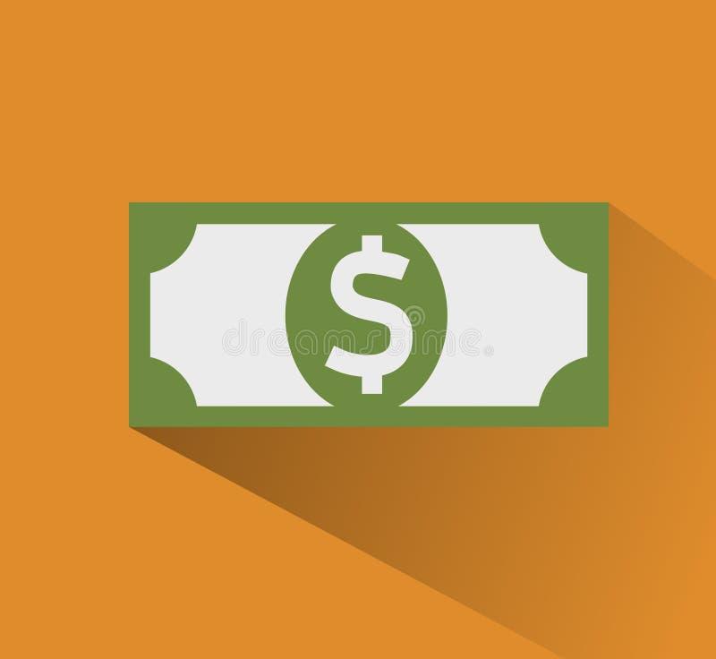 isolerade den abstrakt för dollarsymbolen för bakgrund 3d illustrationen white Illustration för vektor för plan designstil modern stock illustrationer