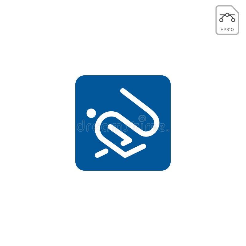 isolerade den enkla linjen symbol för kanin för illustration för logomallvektor stock illustrationer