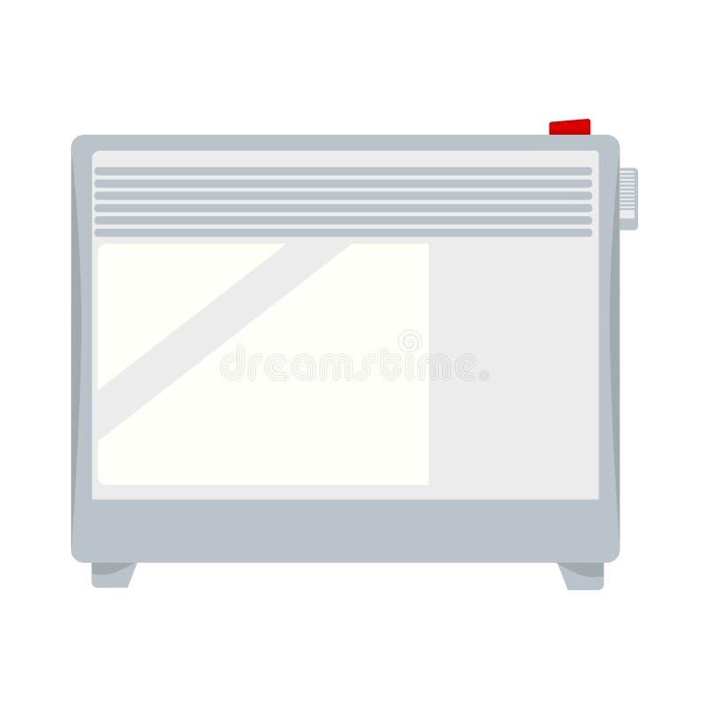Isolerade den justerbara vita värmeapparaten för elkraften på knogar illustrationen vektor illustrationer