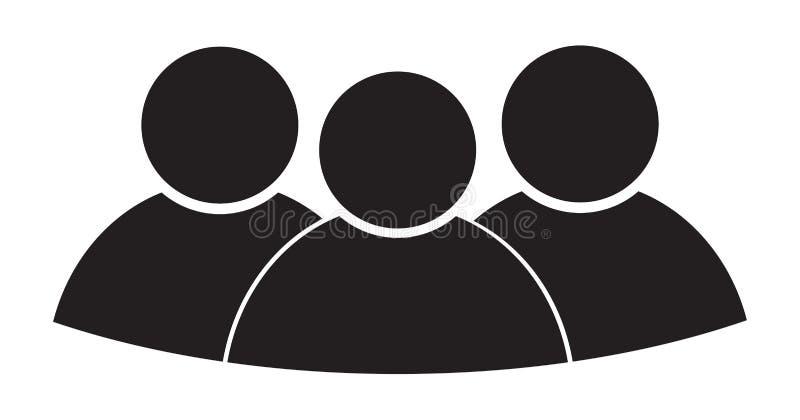 Isolerade den plana affären för tre person design för symbolssymbolillustration vektor illustrationer