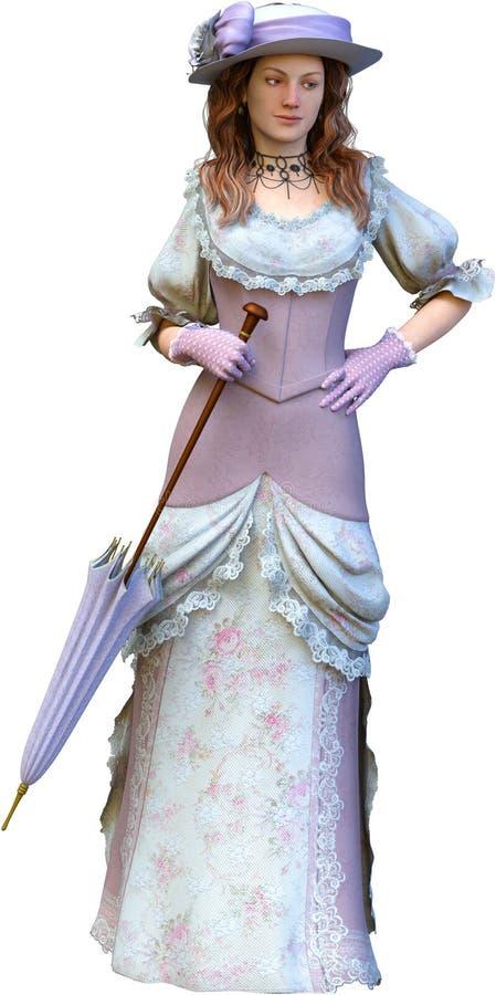 Isolerade den Retro modekvinnan för tappning royaltyfri illustrationer