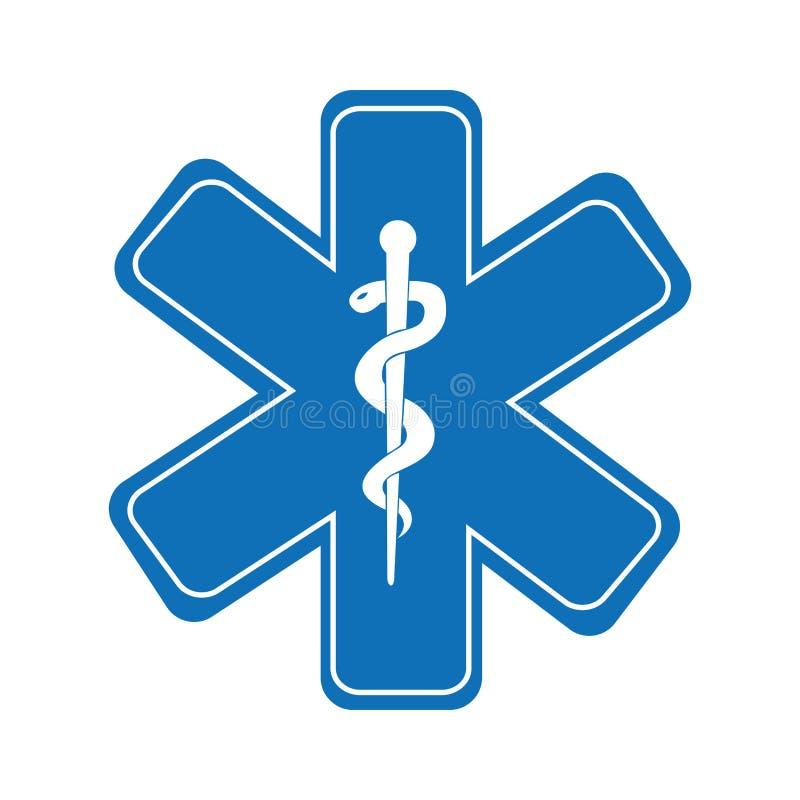 isolerade det medicinska symbolet för caduceusen symbolsdesign vektor illustrationer