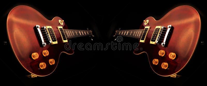 isolerade elektriska gitarrer arkivbild